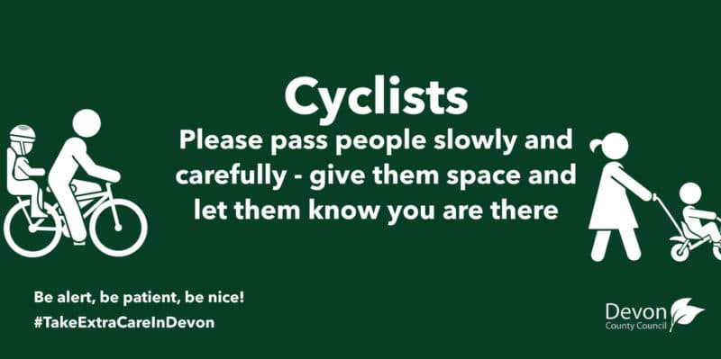 Cyclists-Please pass people slowly and carefully - give them space and let them know you are there